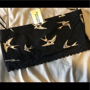 Forever 21 Tops - Forever 21 Bird Print Bandeau